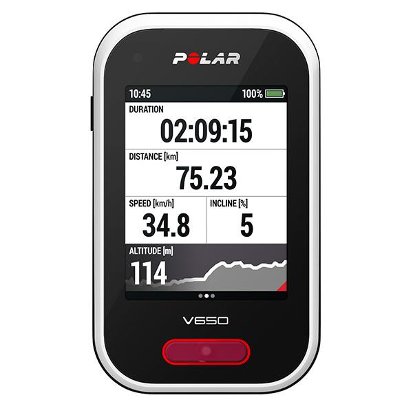 POLAR V650 HR - cyklocomputer s GPS