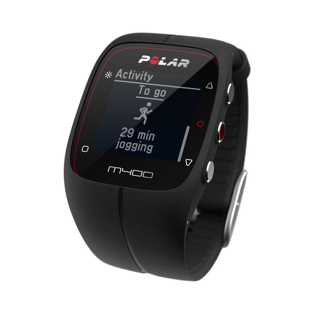 POLAR M400 HR - sportovní hodinky ČERNÉ