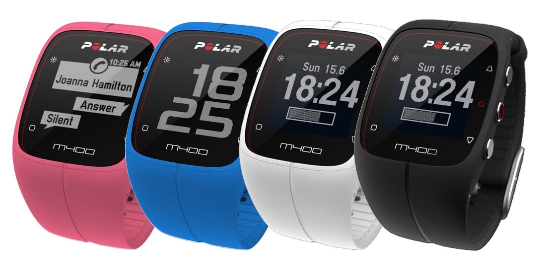 POLAR M400 HR - sportovní hodinky BÍLÉ